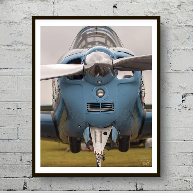 Арт плакат Голубой аэроплан