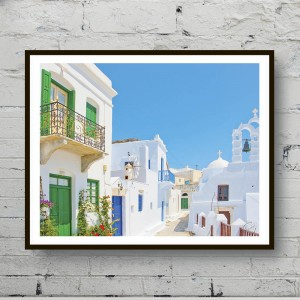 Poster The houses of Santorini