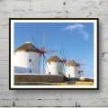 Poster The windmills of Santorini