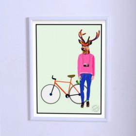 Art poster The Deer Photographer
