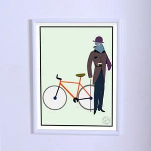 Арт постер Голубь-аристократ