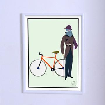 Арт плакат Голубь-аристократ