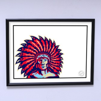 Art poster Red Chief