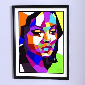 Арт плакат Геометрия женской красоты