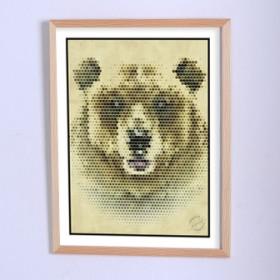 Арт постер Здесь был медведь