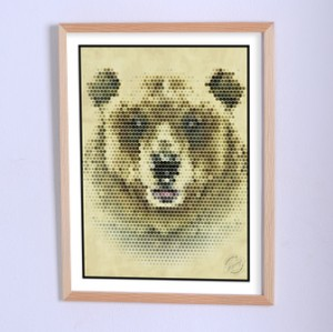 Art poster Here was a bear