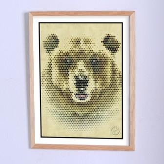 Арт плакат Здесь был медведь
