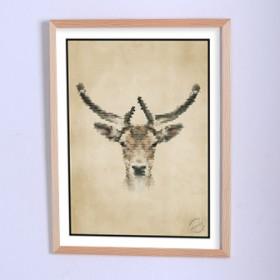 Art poster Here was a deer