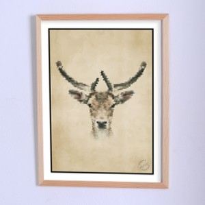 Art poster Here was a deer