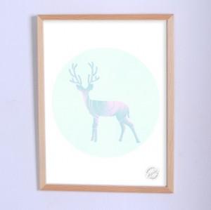 Арт постер Ванильный олень