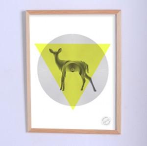 Арт постер Виниловый олень