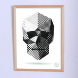Арт постер Геометрический череп