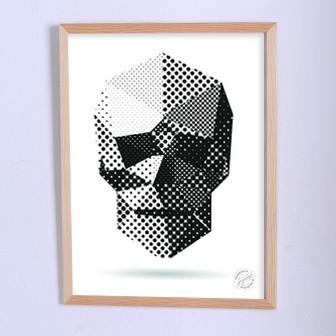 Арт плакат Геометрический череп
