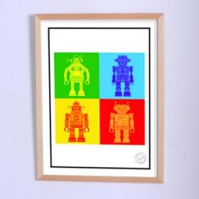 Арт постер Корпорация роботов