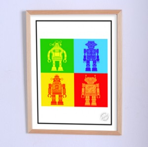Art poster The Corporation of robots