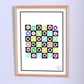 Арт постер Игра в нолики