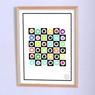 Арт плакат Игра в нолики