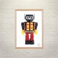 Арт постер Робот Боб