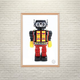 Art poster The Robot Bob