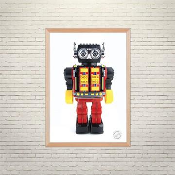 Арт плакат Робот Боб
