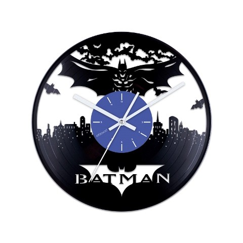 Vinyl clock Batman over the city