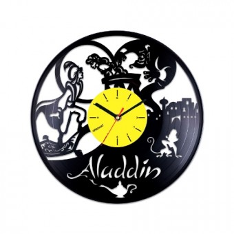 Виниловые часы Аладдин и Джинн