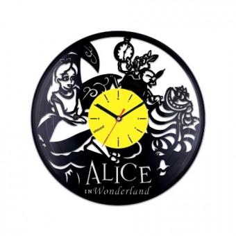 Виниловые часы Алиса в Стране Чудес. Персонажи