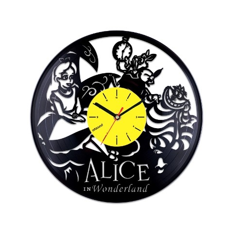 Vinyl clock Alice in Wonderland. Characters