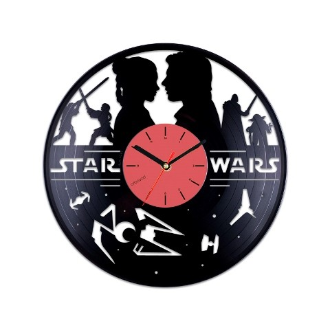 Vinyl clock Star Wars and Love