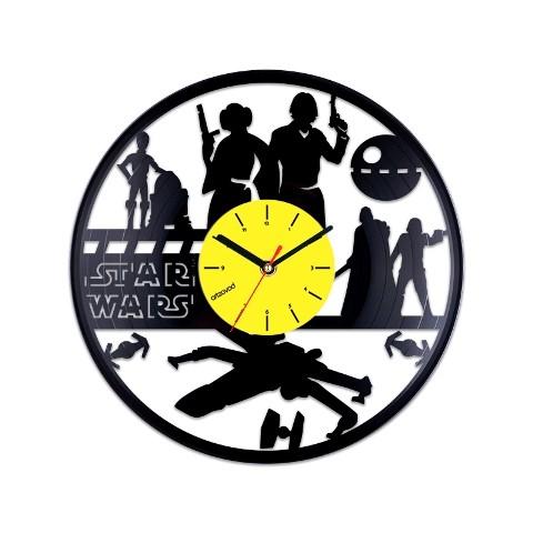 Vinyl clock Star Wars. Action figures