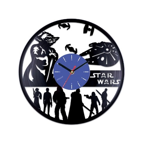 Vinyl clock Star Wars. Yoda