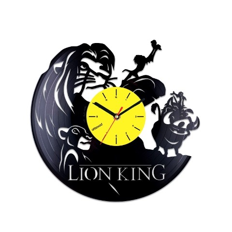 Vinyl clock The Lion King. Characters