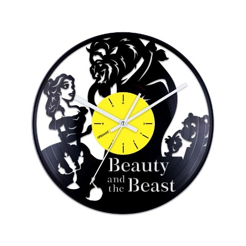 Vinyl clock Beauty and the Beast. Characters