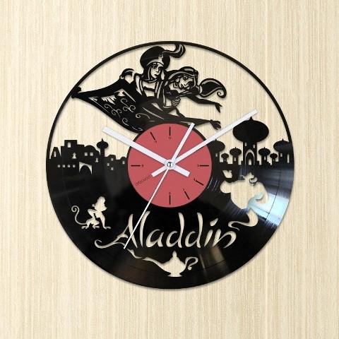 Vinyl clock Aladdin