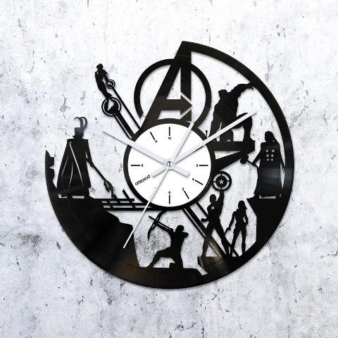 Виниловые часы Мстители