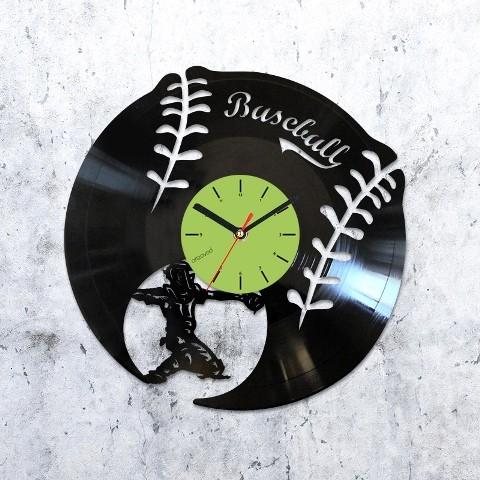 Виниловые часы Бейсбол
