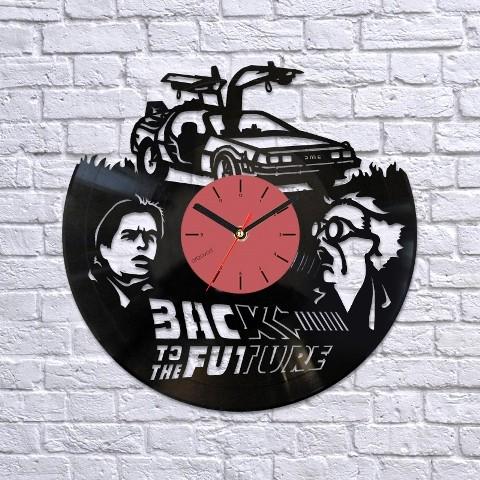 Vinyl clock Back to the future