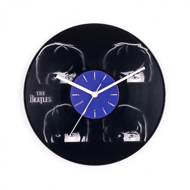 Vinyl clock The Beatles. Young and famous