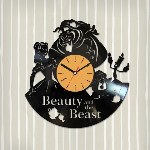 Vinyl clock Beauty and the Beast