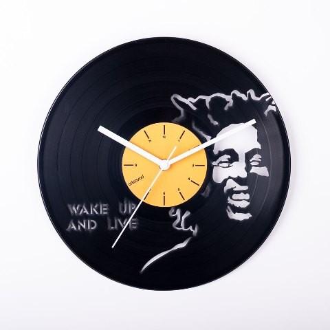 Vinyl clock Bob Marley