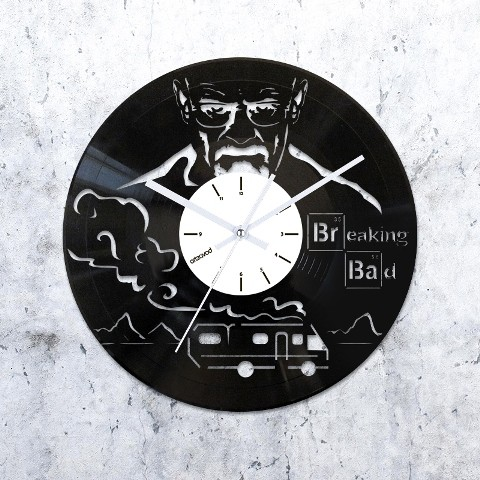 Vinyl clock Breaking Bad