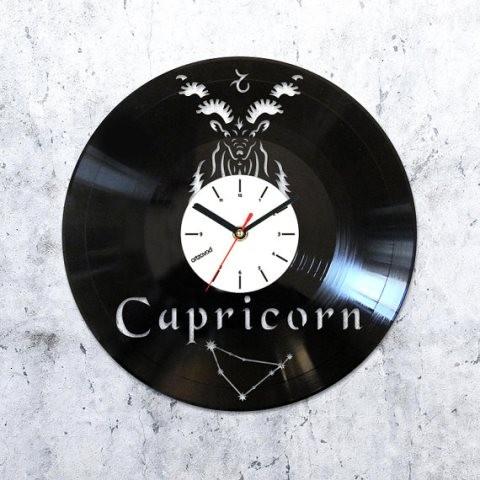 Vinyl clock Capricorn