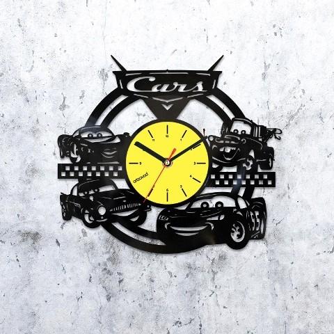 Виниловые часы Тачки