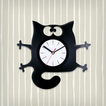 Виниловые часы Котяра