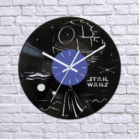 Vinyl clock Darth Vader and Death Star