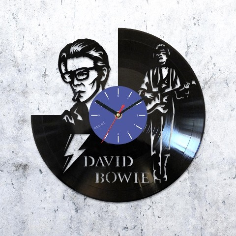Vinyl clock David Bowie