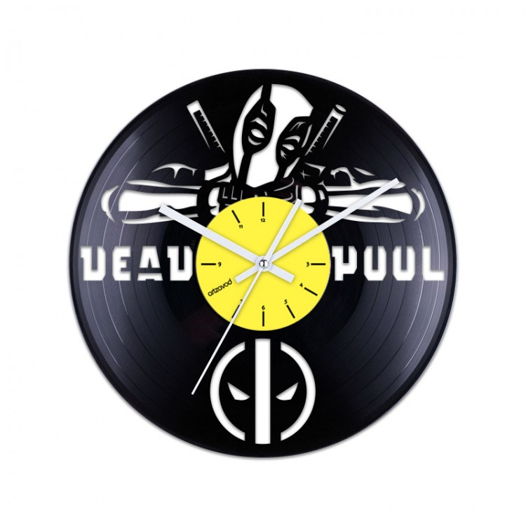 Vinyl clock Deadpool is cool