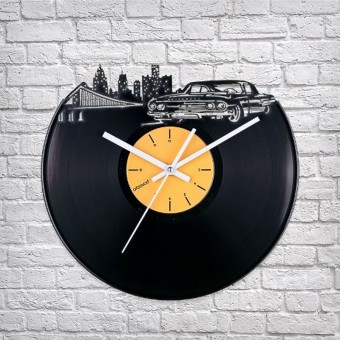 Виниловые часы Где-то в Детройте