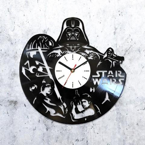 Виниловые часы Звездные войны. Дарт Вейдер