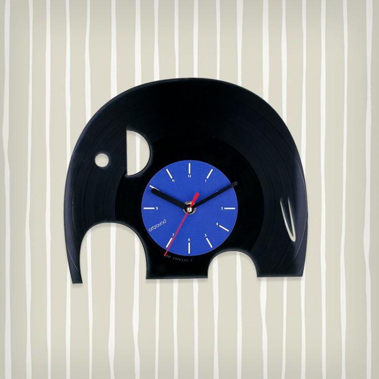 Vinyl clock Elephanto